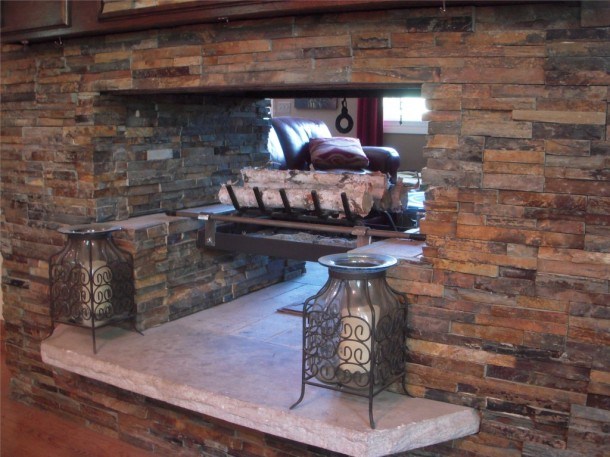 Custom Stone Fireplace Tile Contractor Creative Tile Works Bathroom Remodeling Minneapolis
