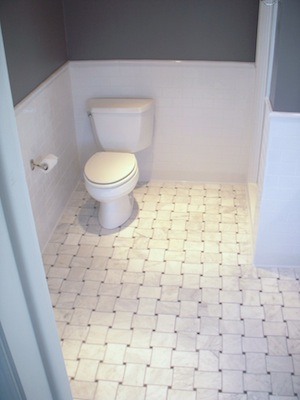 Black And White Basket Weave Tile