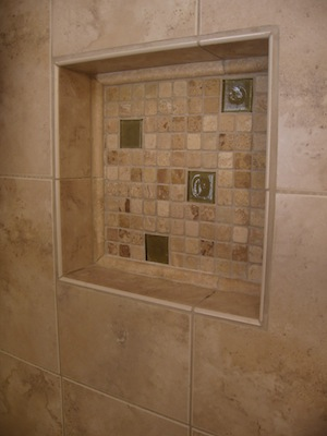 Travertine Shower Shelf Tile Contractor Creative Tile