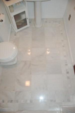 White Marble Floor Tile